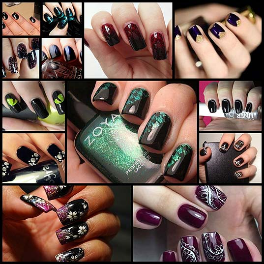 13-Dark-Nail-Designs-Anyone-Can-Try