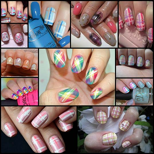 12-Pretty-in-Plaid-Nail-Art-Designs-for-Spring