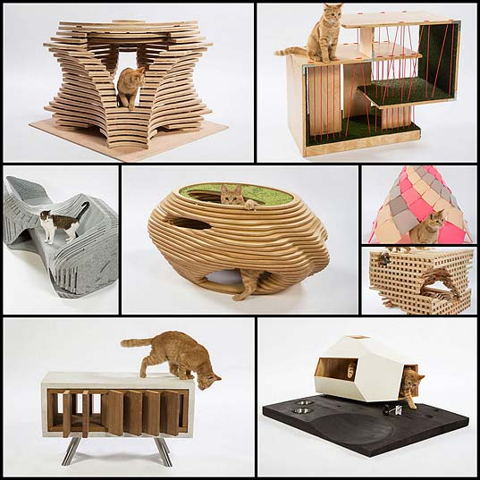 Architects-Lend-Their-Talents-to-Design-Unconventional-Cat-Shelters-for-Charity---My-Modern-Met