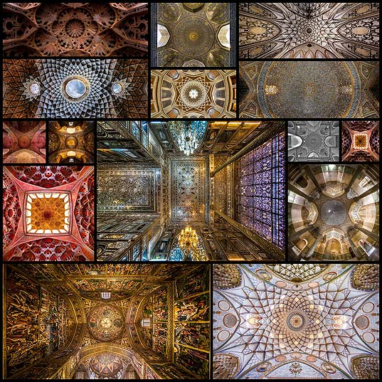 Camera-Pointed-Upwards-Captures-the-Mesmerizing-Ceilings-of-Iran's-Ornate-Architecture---My-Modern-Met