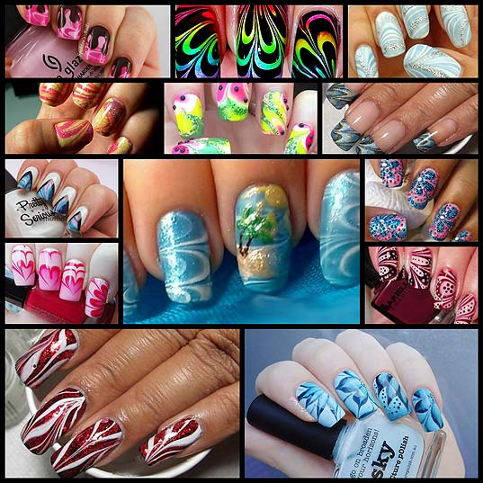 13-Unique-and-Creative-Water-Marble-Nail-Art-Designs