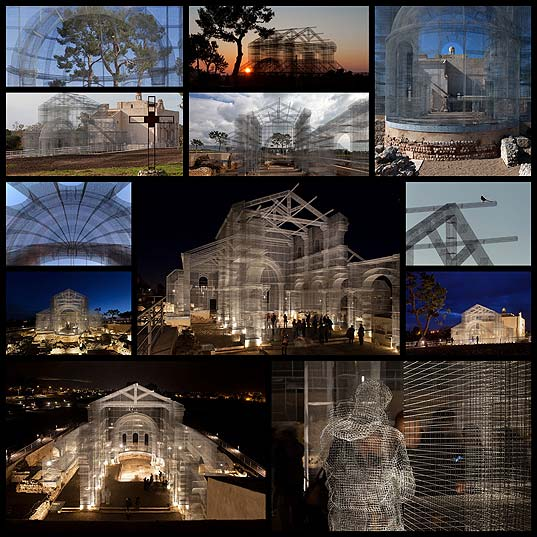 12Artist-Resurrects-Ancient-Building-Site-With-Incredible-Wire-Mesh-Installation-«TwistedSifter