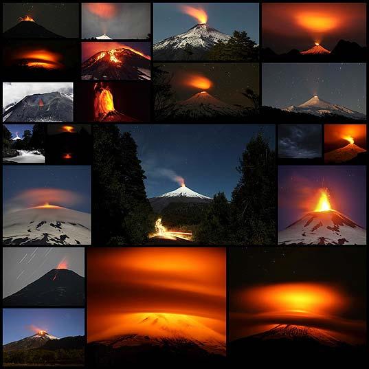 チリで落ち着きのない火山ビヤリカ