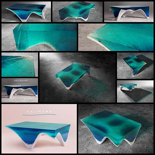 Elegant-Marble-and-Acrylic-Glass-Table-Mimics-the-Layered-Depth-of-the-Ocean-Floor---My-Modern-Met