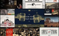 20 Website Designs with an Aged  Vintage  Retro Style