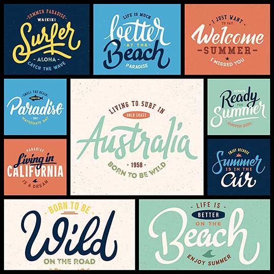 Freebie 10 High Quality Summer Letterings