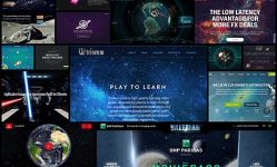Futuristic and Cosmic Incredible Sci-Fi Website Designs