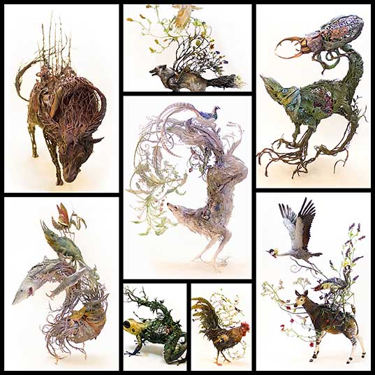 half-animal-half-plant-surrealist-sculptures-by-ellen-jewett-design-swan
