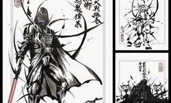 bujinga-sumi-e-portraits-of-star-wars-characters-by-masayuki-kojo-spoon-tamago