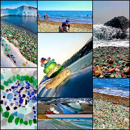 "Russian Beach Turns Old Vodka And Beer Bottles Into Colorful Glass ""Pebbles"" Bored Panda"