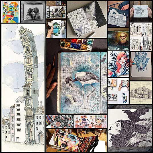 15+ Beautiful Sketchbooks Are Mobile Galleries of Stunning Works of Art