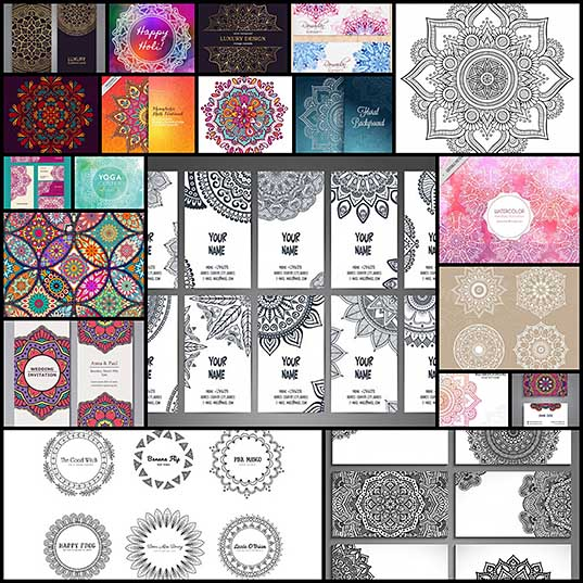 20 Beautiful Free Mandala Vectors
