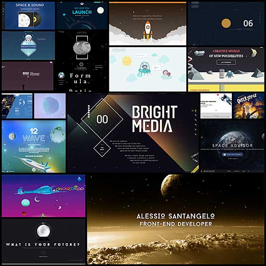 20 Gorgeous Space Themed Web Designs - Hongkiat