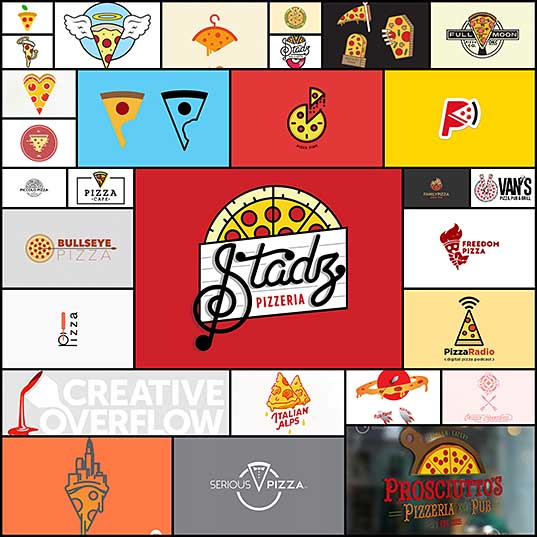 28 Fresh n' Delicious Pizza Logos Creativeoverflow