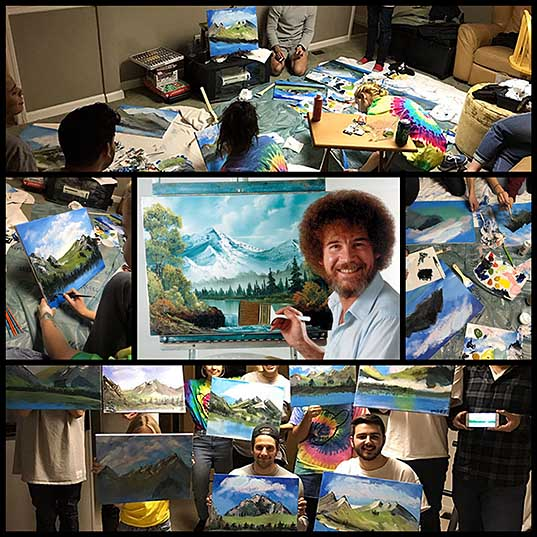 People Are Obsessed With This 22-Year-Old Guy Who Had A Bob Ross Birthday Party Bored Panda