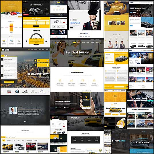 20+ Best Car Rental & Taxi WordPress Themes 2017 - freshDesignweb