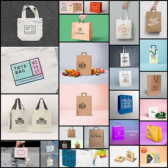 22 Free Shopping Bag Mockups For Presentations Naldz Graphics