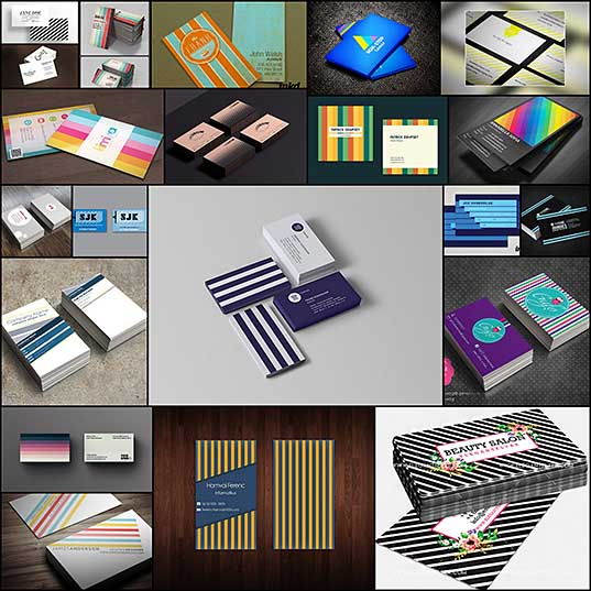 20+ Striped Business Card Designs To Check Out Naldz Graphics