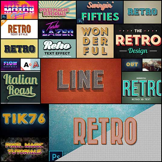 20 Top-Notch Retro Text Tutorials To Learn From Naldz Graphics