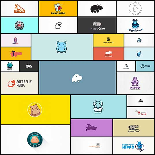 30+ Cute Examples Of Hippo Logo Designs Naldz Graphics