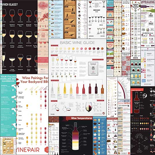 30 Interesting Infographics for Wine Lovers - Hongkiat