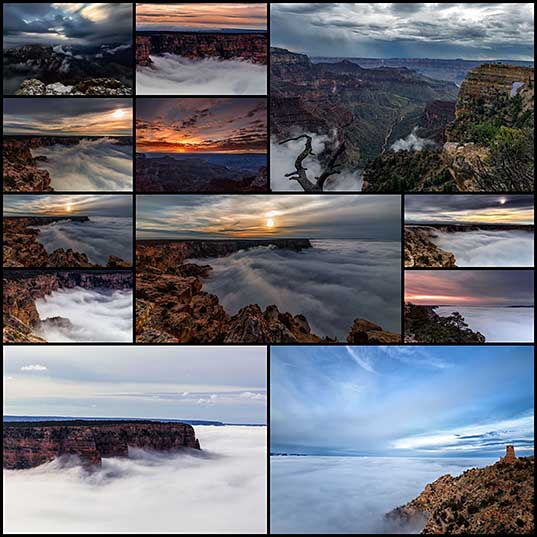 There was a Full Cloud Inversion at the Grand Canyon and this Guy Got an Unreal Timelapse of It «TwistedSifter