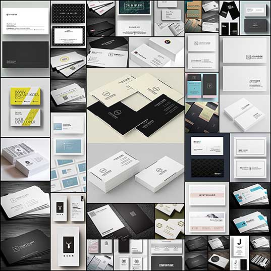 35 Minimal Modern Business Card Templates Graphics Design Design Blog