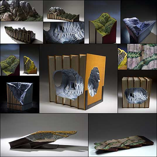 15 Magnificent New Carved Book Landscapes and Architecture by Guy Laramée Colossal