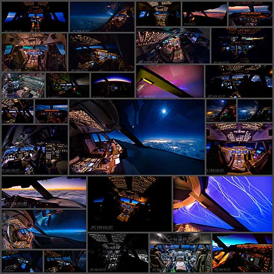747 Pilot Takes Stunning Photos From His Cockpit, Proves That Pilots Have The Best Office Views In The World Bored Panda