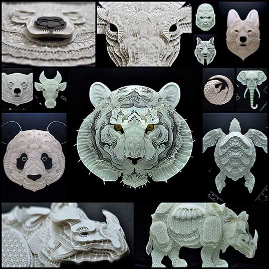 Exquisite Cut Paper Art Brings Awarness to Endangered Animals