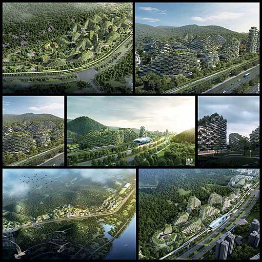 Китайцы строят первый в истории современный «лесной город», который будет состоять из 40 тыс