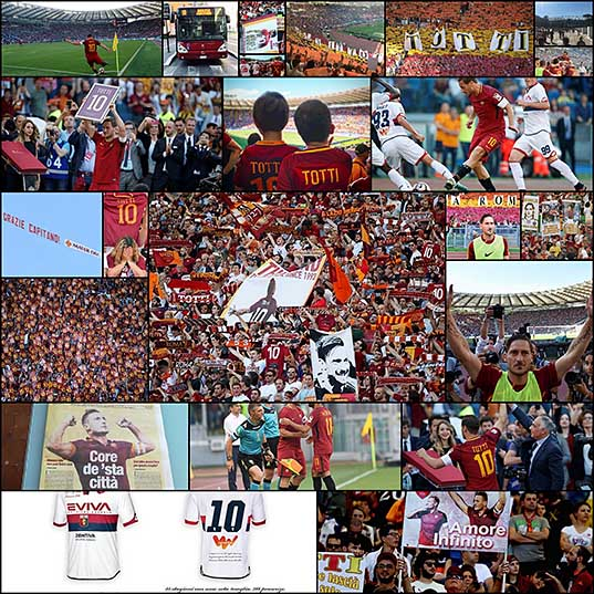 Francesco Totti Says Goodbye To The Fans (23 pics)