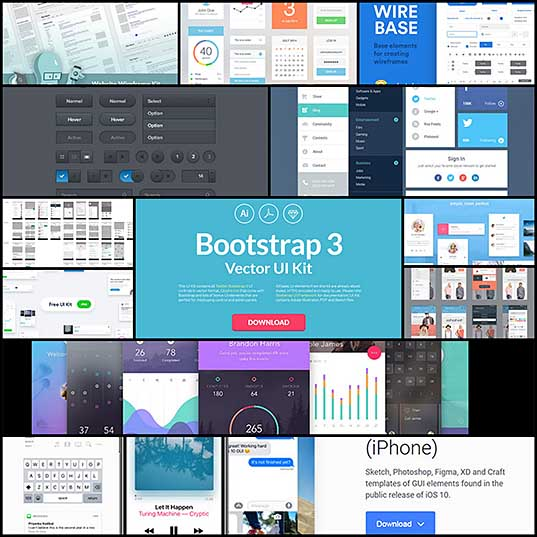 Best Free GUI Kits For Web & Mobile Designers - Bittbox1