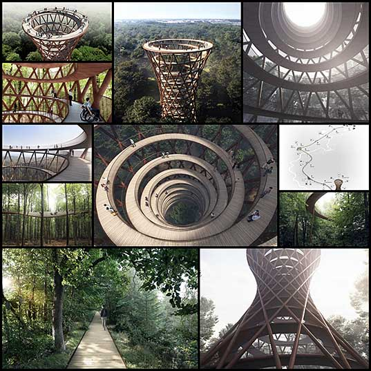 12 This Spiraling Treetop Walkway In Denmark Puts Every Other Tree Walkway To Shame Bored Panda