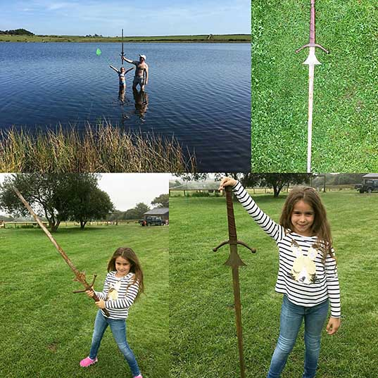 A girl just found an 'Excalibur' sword in the lake from King Arthur's legend Metro News