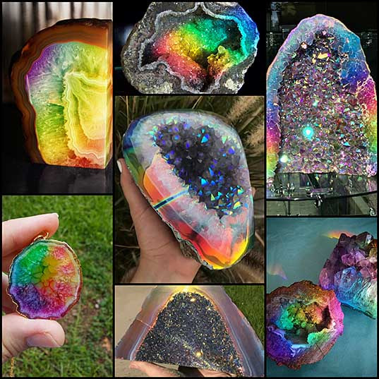 Rainbow Crystal Geode Is a Dazzling Delight You Can Hold in Your Hands