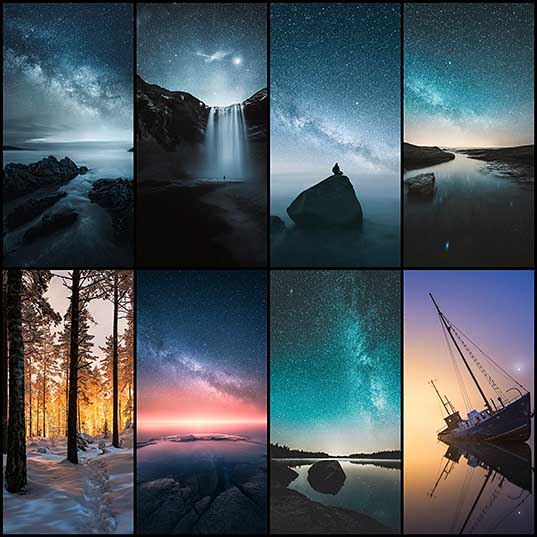 The Night Skies Over Finland & Iceland Saturated with Stars Photographed by Mikko Lagerstedt Colossal