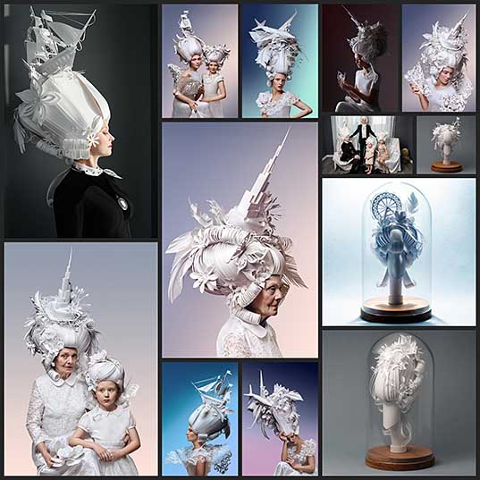 Paper Artists Recreate Baroque Wigs With a Modern Twist