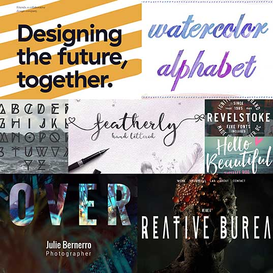 Examples Of Top 10 Typography Trends 2017