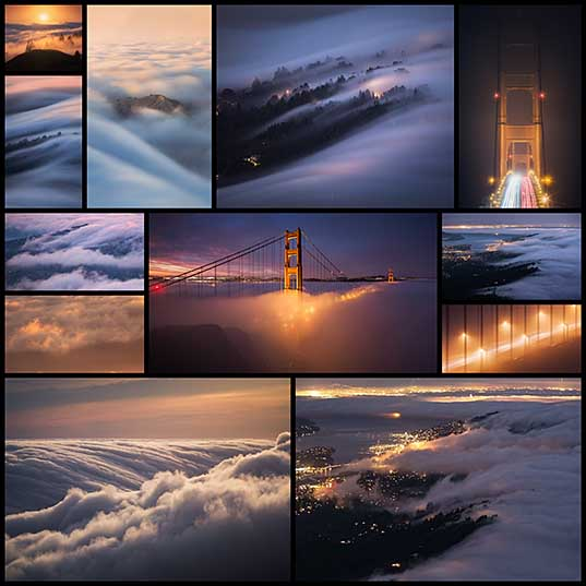 San Francisco Shrouded in Dense Fog Captured by Michael Shainblum Colossal