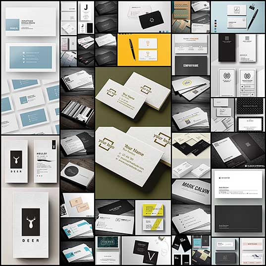 27+ Simple Clean Business Card Templates Graphics Design Design Blog