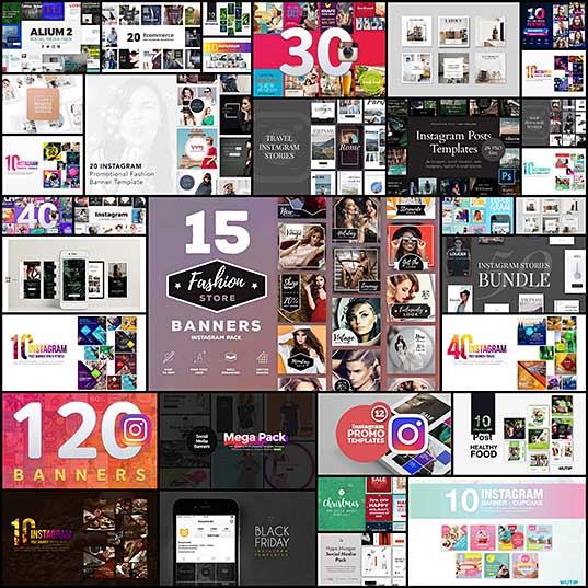 30+ Best Instagram Templates & Banners Design Shack