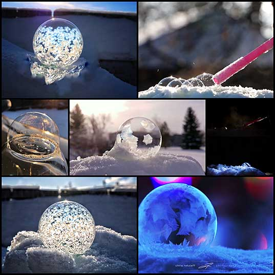 These viral videos of bubbles freezing are gorgeously mesmerizing theBERRY