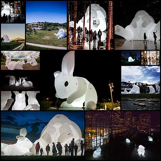 Amanda Parer's Giant Inflatable Rabbits Invade Public Spaces Around the World Colossal
