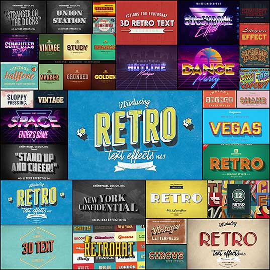 30+ Best Retro Text Effects & Styles Design Shack