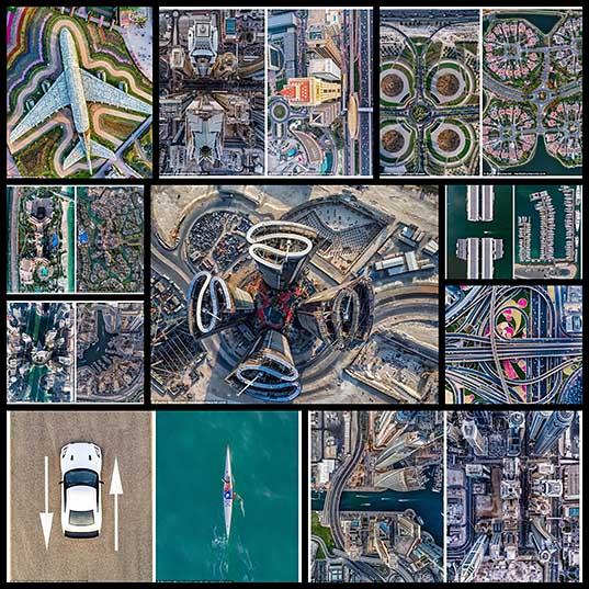 Небоскребы Дубая с высоты птичьего полета потрясающие снимки с дрона