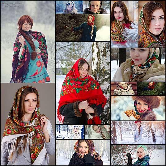 Девушки в русских нарядах (26 фото) » Триникси