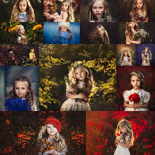 17 Photographer Roberta Baneviciene Beautifully Captured Her Daughter With Every Possible Flower In Her Hand - 121Clicks