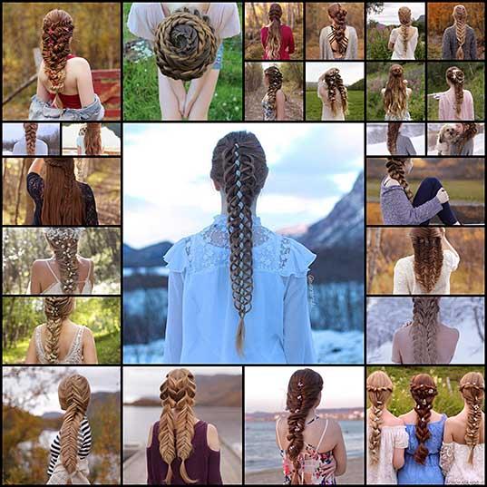 Сестрички из Норвегии плетут такие косы, что закачаешься1