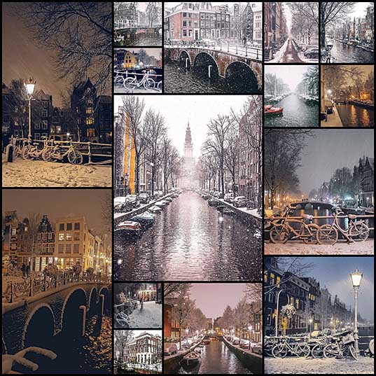 I Photographed Amsterdam Covered By Heavy Snow Bored Panda